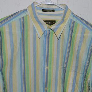 Eddie bauer button down mens shirt size L T J706